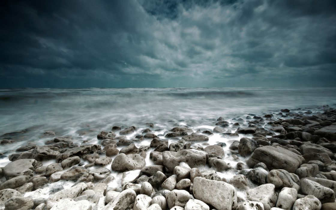 Sea and Stones wallpaper