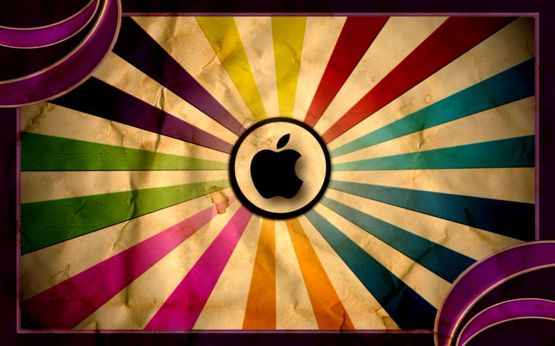 Apple Super Vintage wallpaper