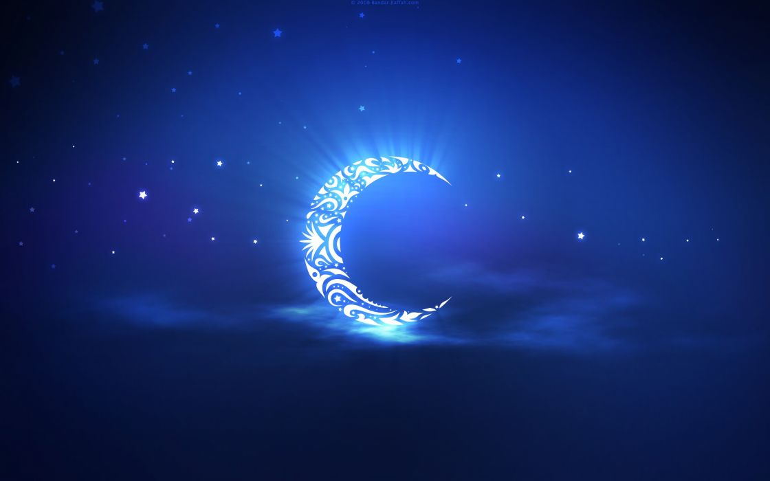 holy ramadan moon wallpaper