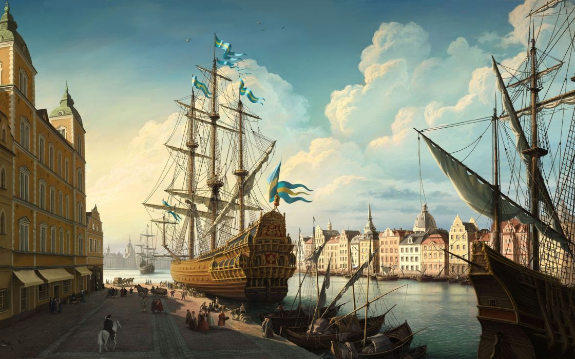 Old City Port wallpaper