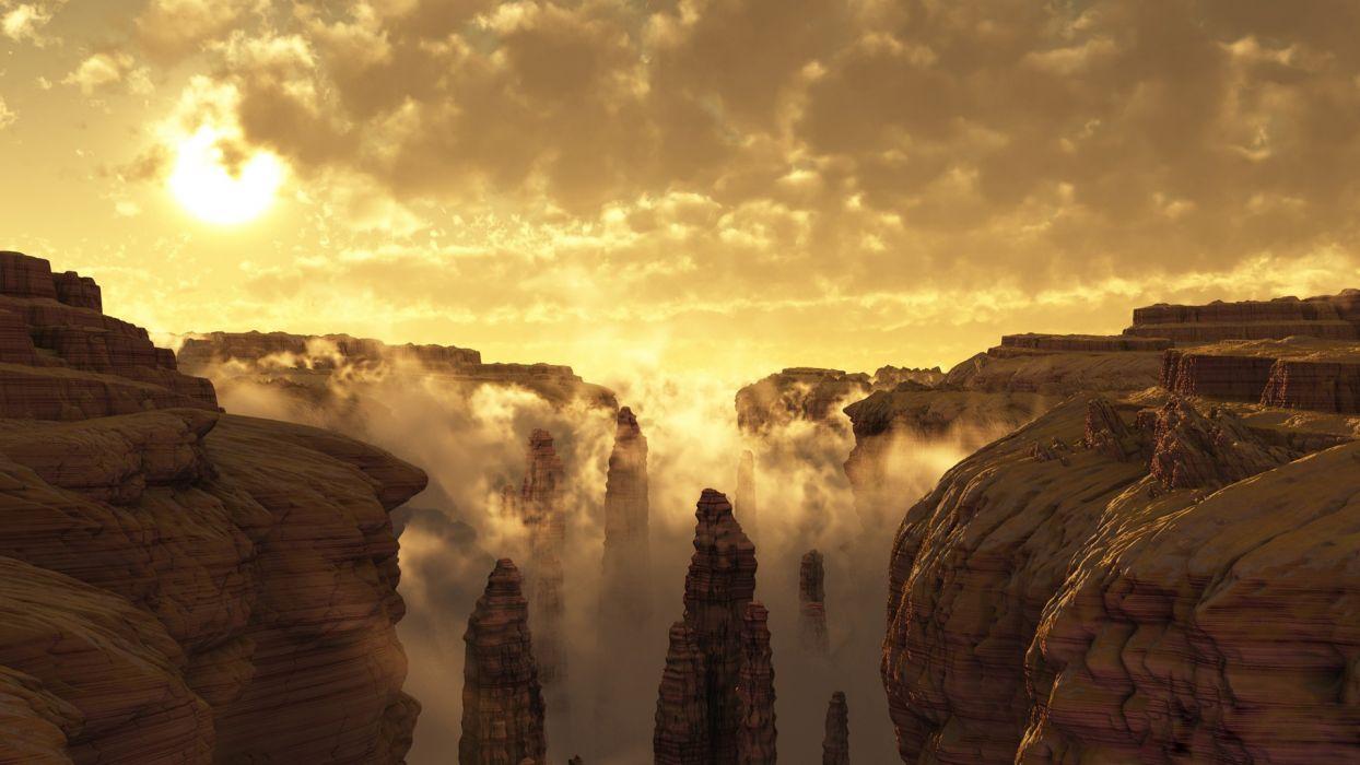 3D Canyon wallpaper