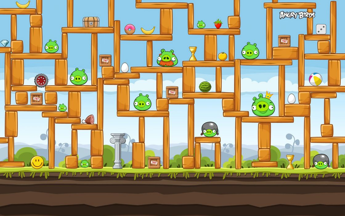 Angry birds construction wallpaper