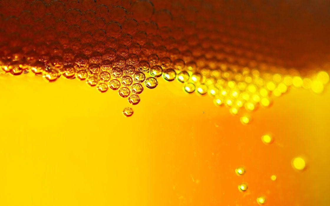 Beer bubbles wallpaper