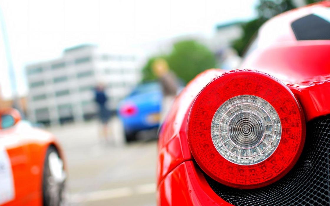 Red ferrari taillight wallpaper