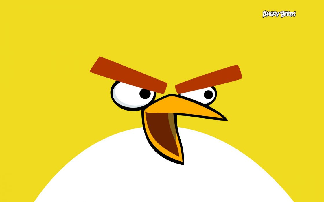 Angry birds yellow wallpaper