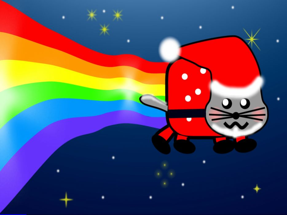 Nyan cat xmas edition wallpaper