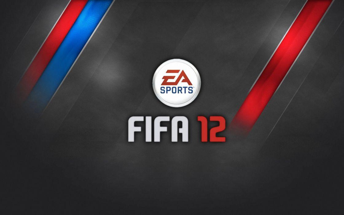 Fifa 12 gray red blue wallpaper