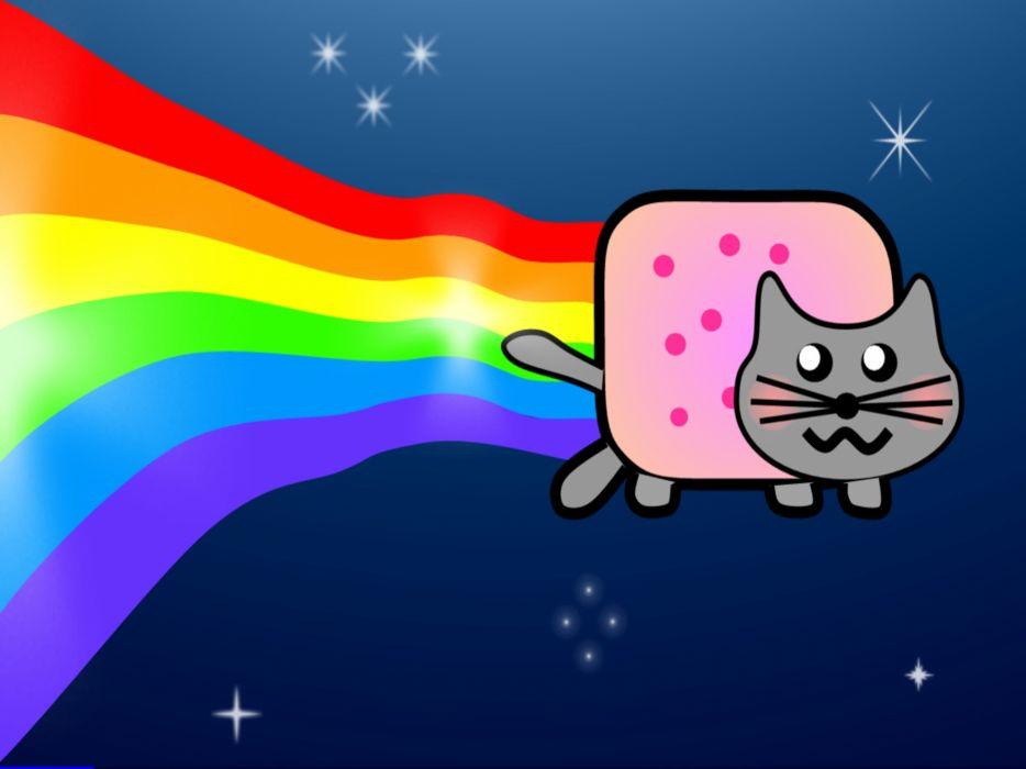 Nyan cat redrawn wallpaper