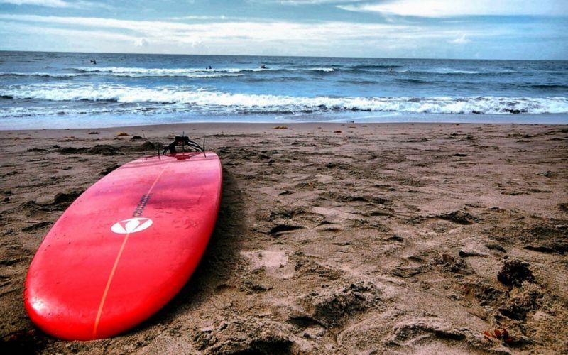 Red surf board wallpaper