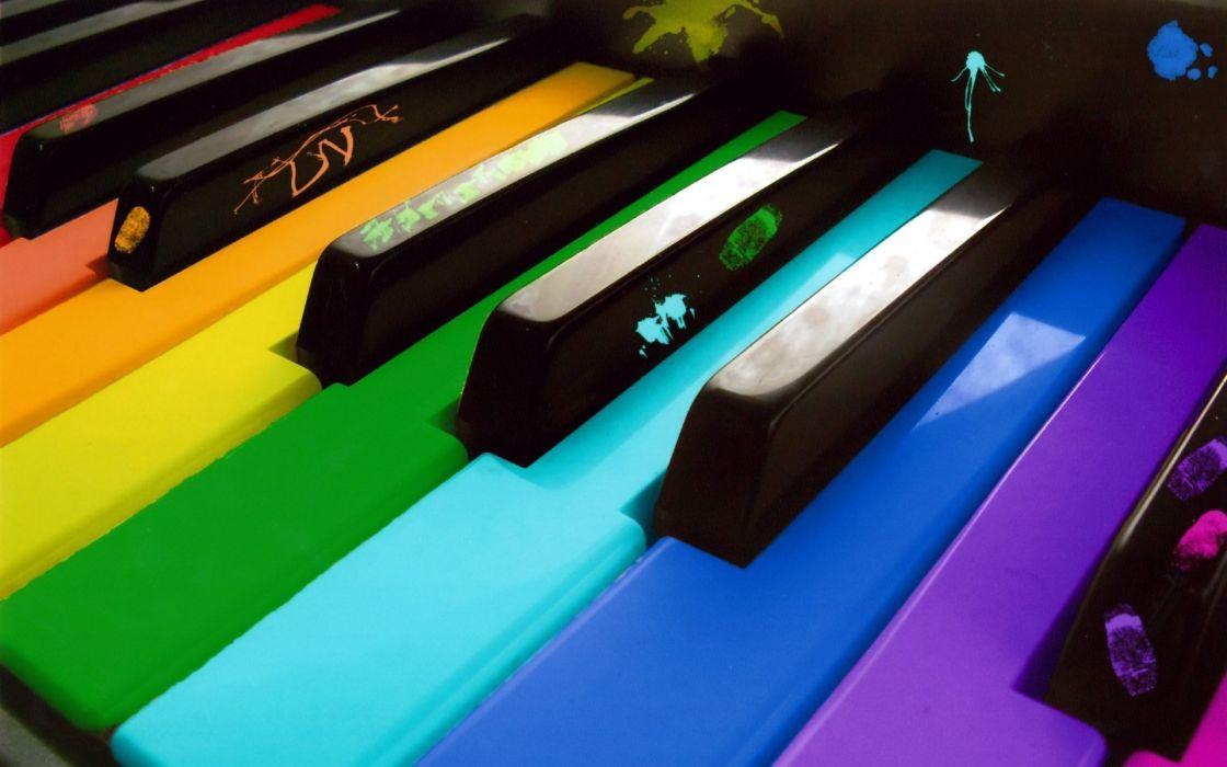 Colorful piano wallpaper