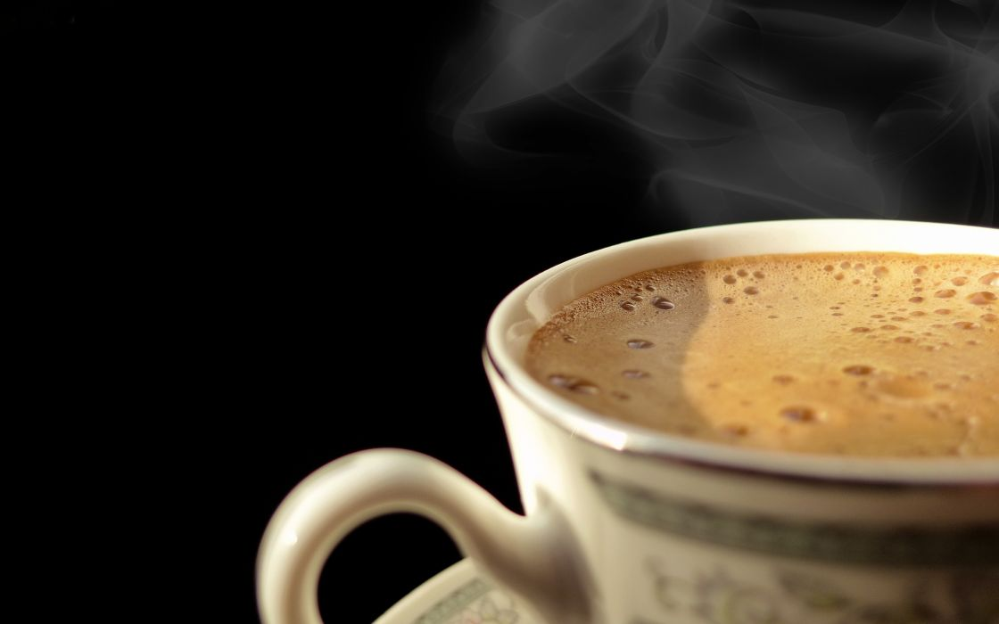 Cup of hot coffee wallpaper