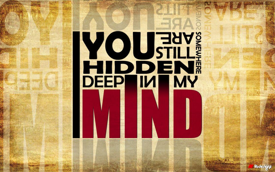 In my mind wallpaper
