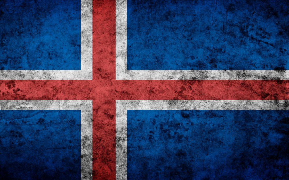 Iceland grunge flag wallpaper