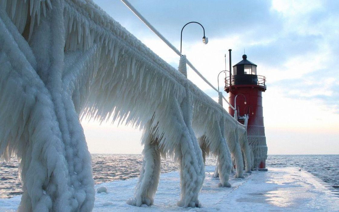 Ice bridge wallpaper