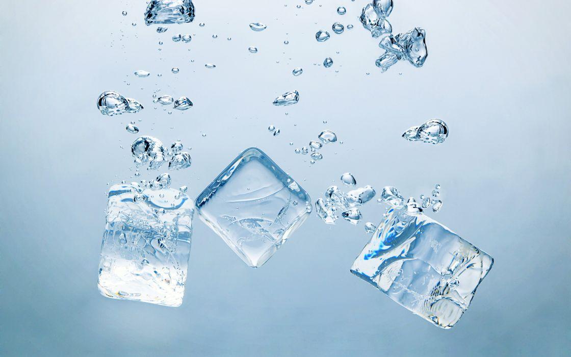 Ice cubes wallpaper
