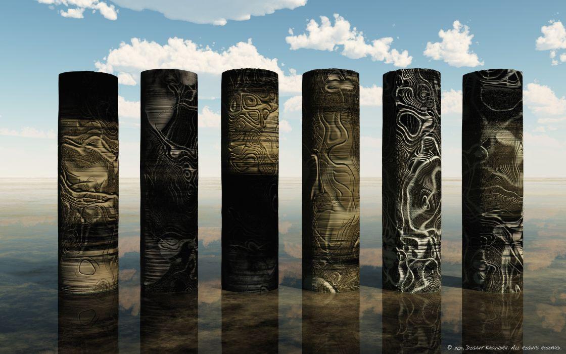 Alien pillars wallpaper
