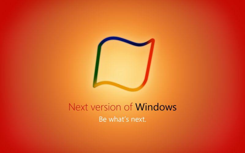 Window 8 orange wallpaper