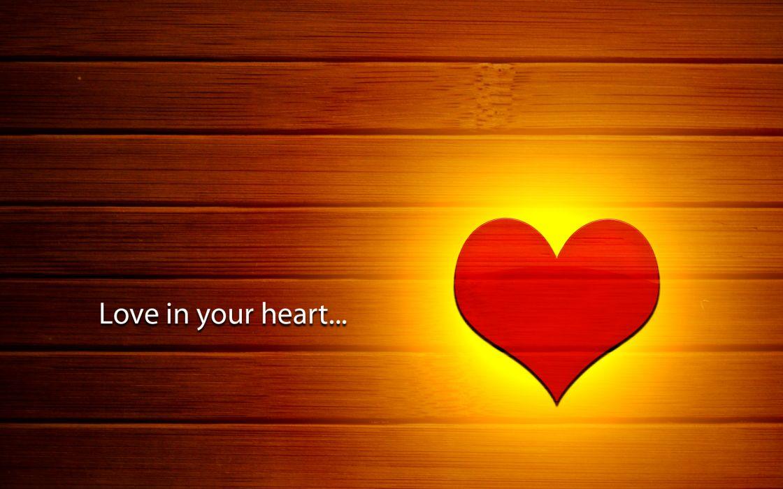 Love in your heart wallpaper