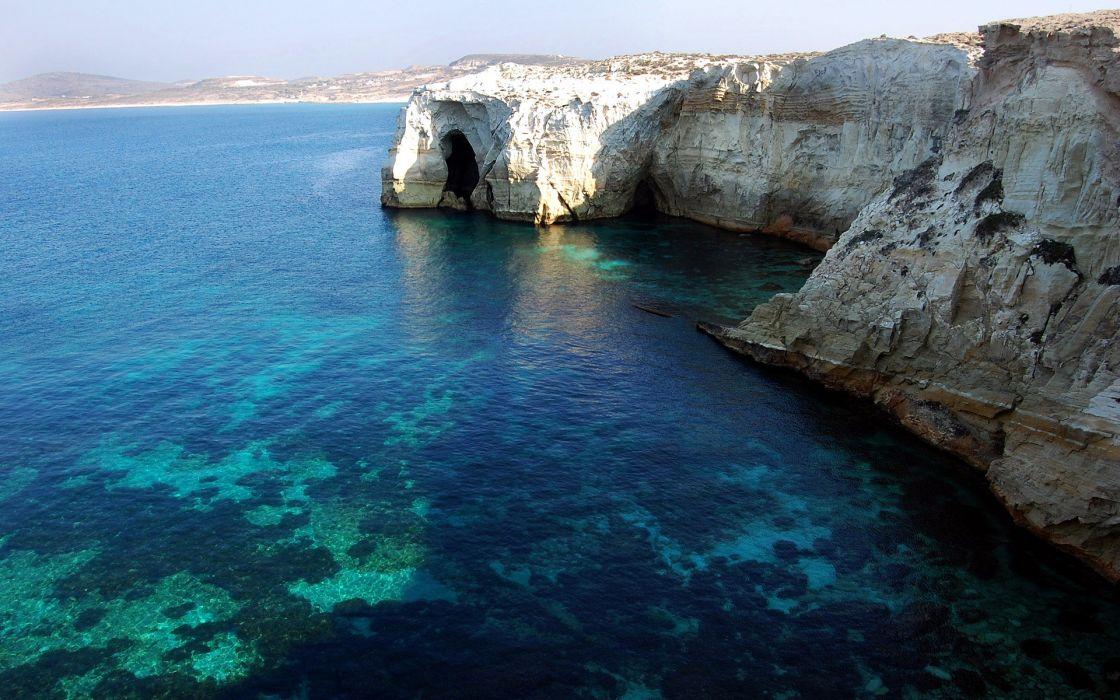 Bay in greece wallpaper