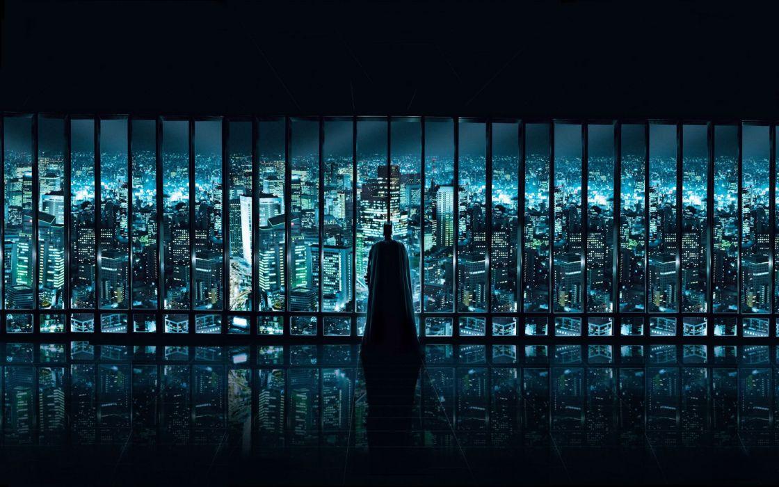 Batman watching wallpaper