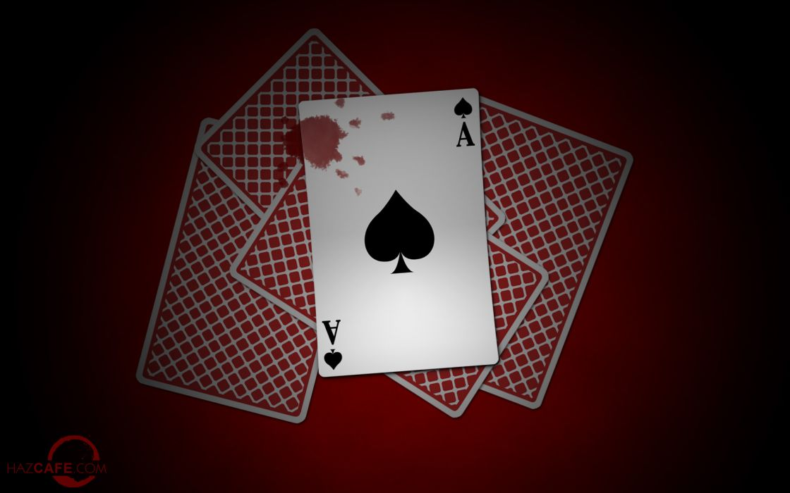 Bloody ace card wallpaper