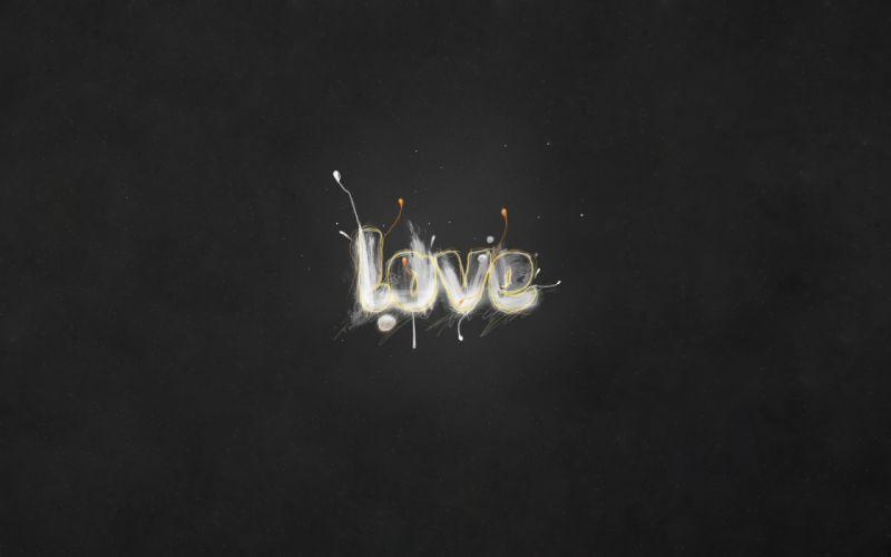Grey love wallpaper