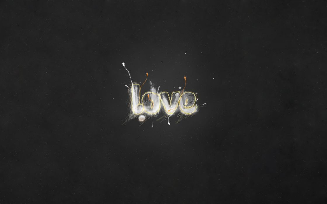Grey love wallpaper