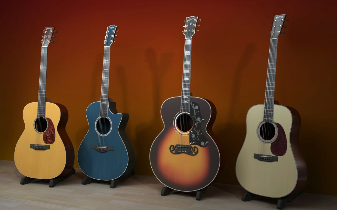 Beautiful guitars wallpaper