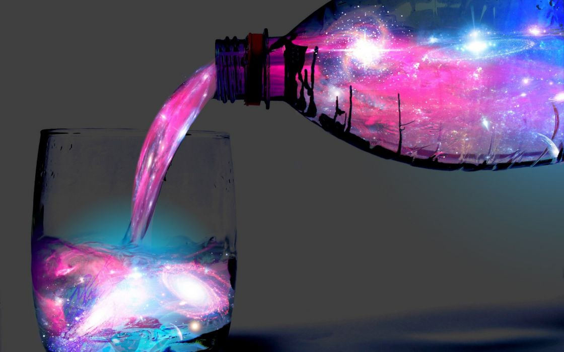 Space in glass wallpaper