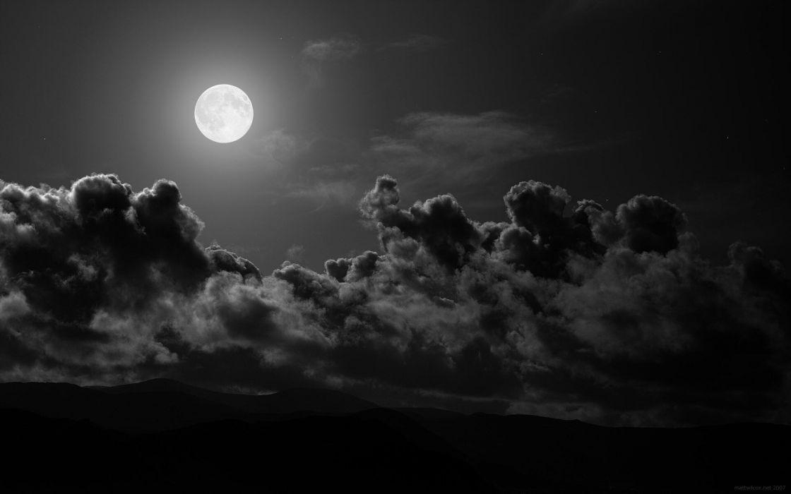 Moon light black wallpaper