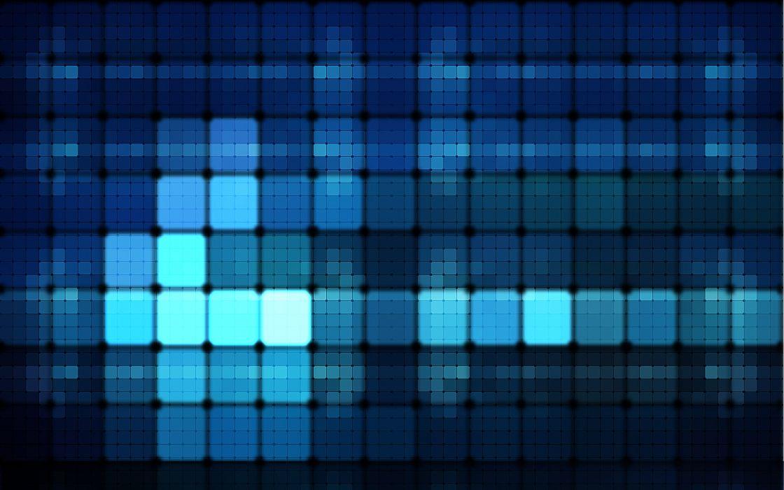 Blue lights wallpaper