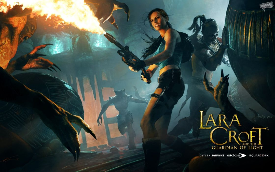 Lara croft  guardian of light wallpaper