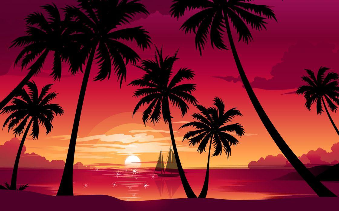 Magneta sunset wallpaper