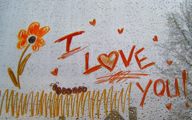 I love you drawing wallpaper