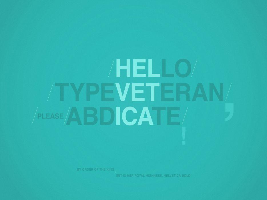 Helvetica type veteran wallpaper