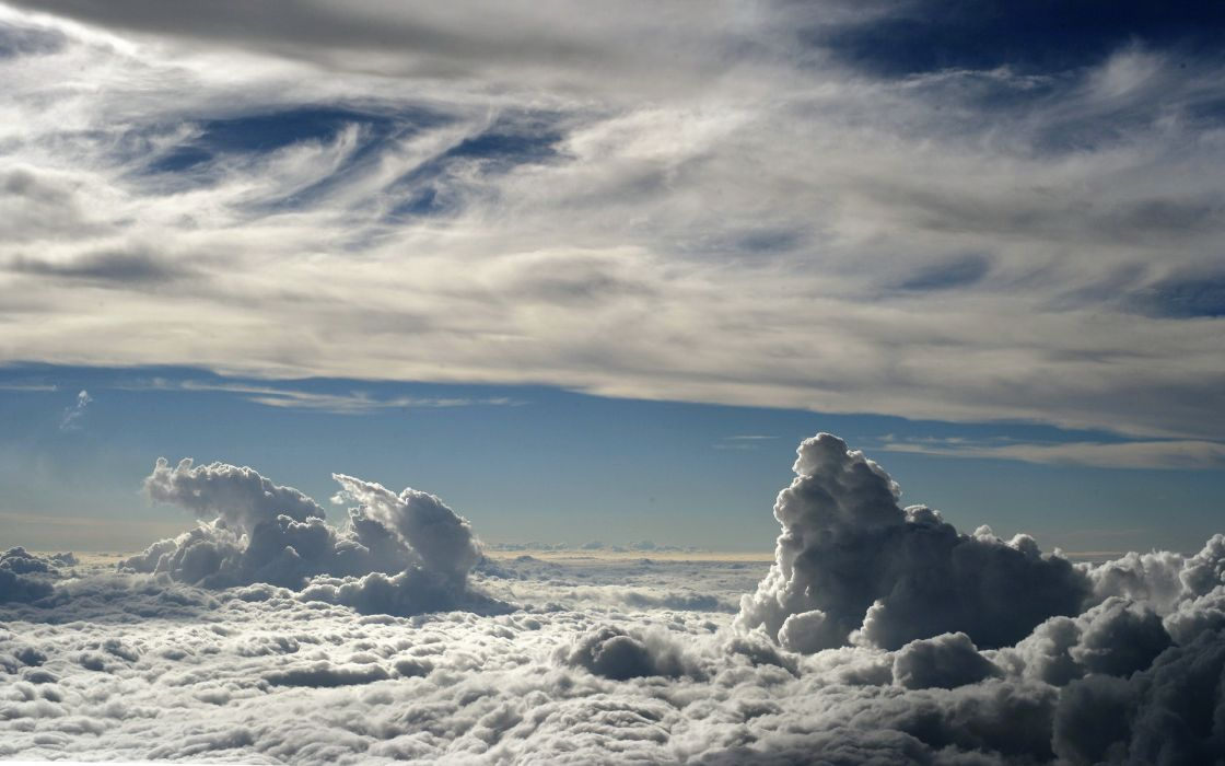 Above white clouds wallpaper