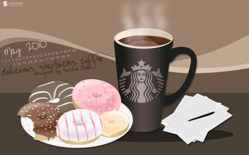 Starbucks coffee and donuts wallpaper