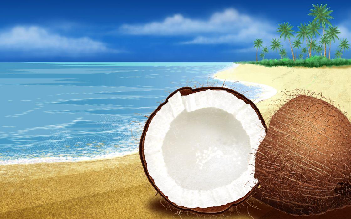 Coconuts wallpaper