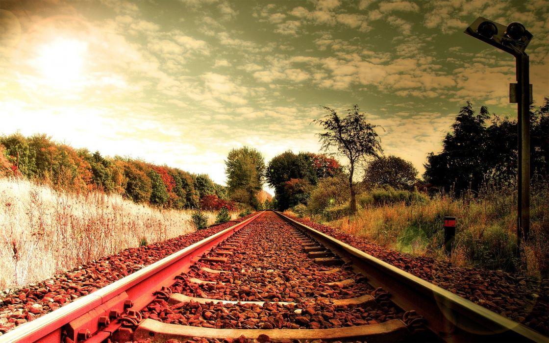 Railway tracks wallpaper