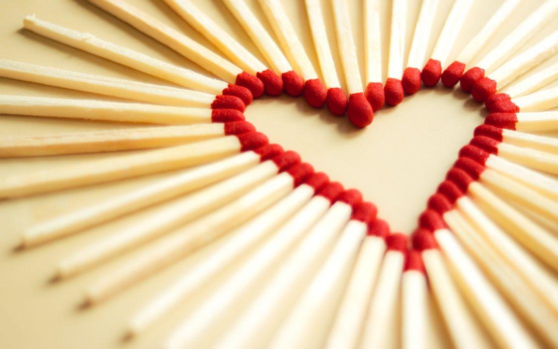 Love matchsticks wallpaper