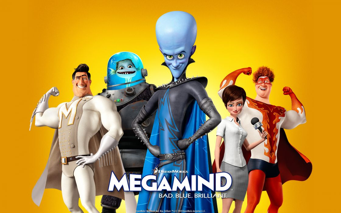 Bad blue megamind wallpaper