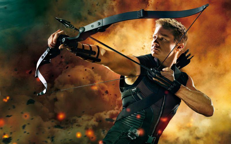 Hawkeye in the avengers wallpaper