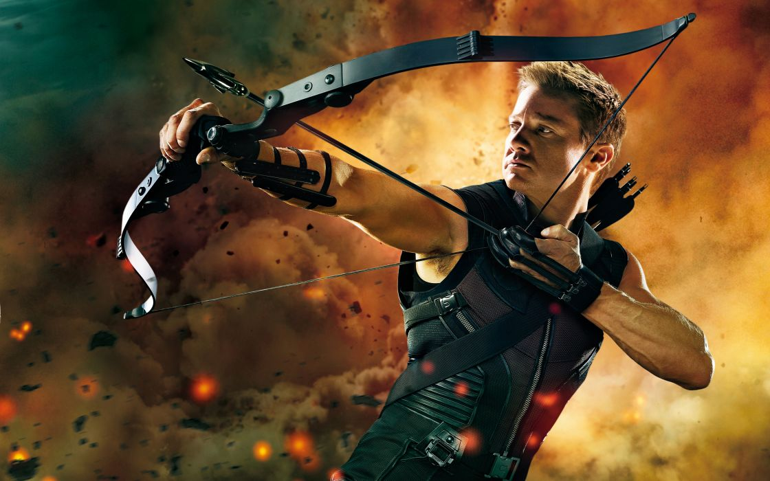 Hawkeye in the avengers wallpaper