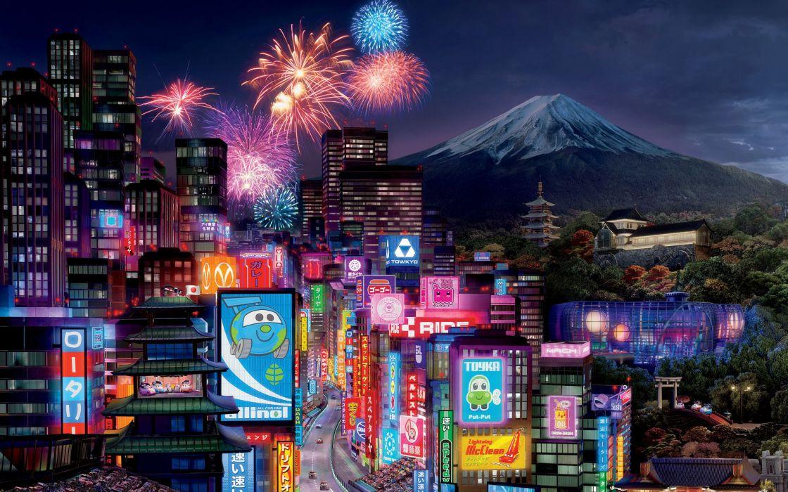 Tokyo city in cars wallpaper