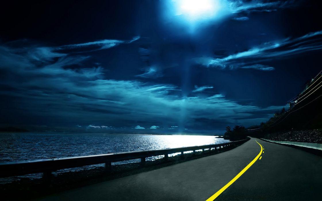 Highway nights wallpaper