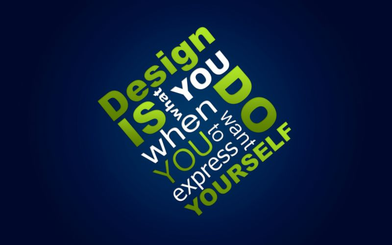 Design yourself wallpaper