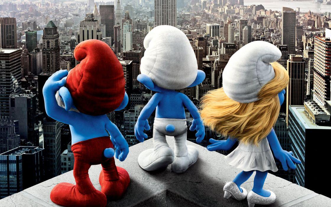 2011 Smurfs movie wallpaper