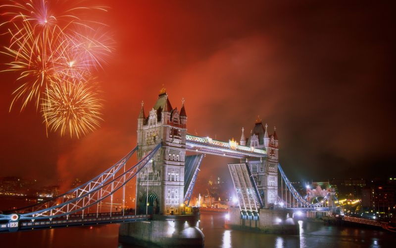 Light up the night tower bridge wallpaper
