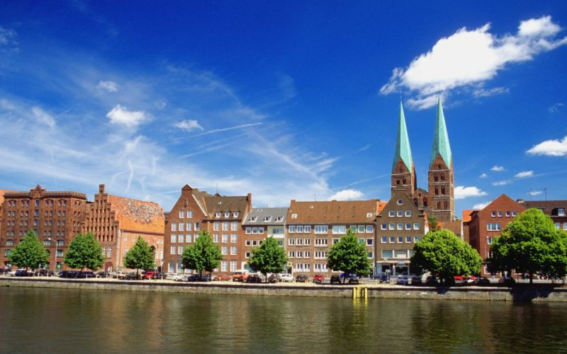 Trave river germany wallpaper