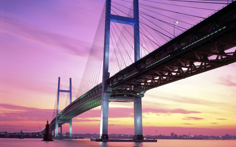 Yokohama bay bridge japan wallpaper